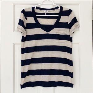 SPLENDID shirt size large blue brown shortsleeve